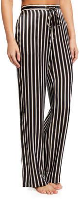 Violet & Wren Floral-Print Silk Pajama Pants