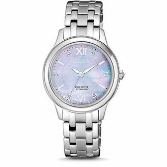 Citizen Womens Analogue Quartz Watch with Titanium Strap EM0720-85Y