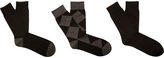 Oxford James 3pk Socks Blk/Charc