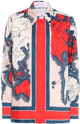 Victoria Victoria Beckham Map-print shirt