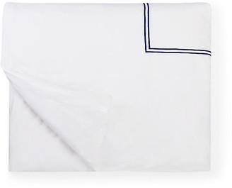 Sferra Grande Hotel Duvet Cover - White/Navy Twin