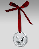 Sterling Silver Two Turtle Doves Christmas Ornament