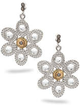 Coomi Opera Crystal & Diamond Flower Earrings