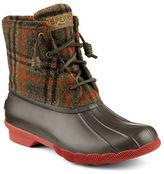Sperry Saltwater Woolen Plaid Duck Boots
