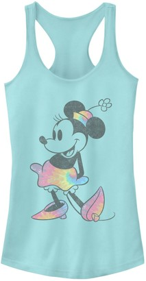Licensed Character Juniors' Disney's Minnie Mouse Tie Dye Vintage Tank