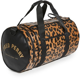 Fred Perry Leopard Print Barrel Bag