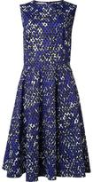Oscar de la Renta sleeveless flared dress