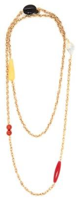 Carolina Herrera Beaded Double-layer Chain Necklace - Womens - Gold