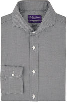 Ralph Lauren Purple Label Men's Keaton Houndstooth Cotton Dress Shirt-BLACK