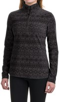 Eddie Bauer Nordic Microfleece Shirt - Zip Neck (For Women)