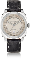 Trussardi Stainlees Steel w/Croco Embossed Leather Strap men's Watch
