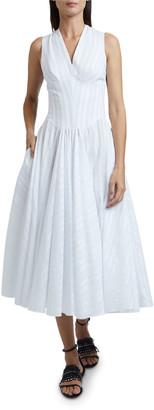 Alaia Striped Cross-back Dress