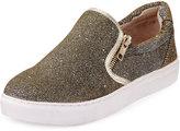 J Slides Zipster Metallic Slip-On Sneaker, Gold