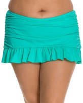 Kenneth Cole Plus Size Solid Ruffle Rouched Skirted Bottom 7539172