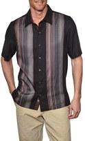 Nat Nast Men's 'Broome' Regular Fit Stripe Silk Camp Shirt