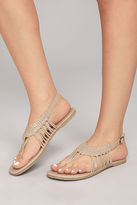 Sbicca Yanet Nude Leather Sandals