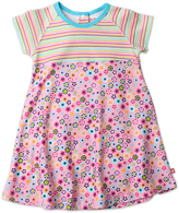 Zutano Pink Flower Shower Raglan-Sleeve Dress - Toddler