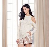 LC Lauren Conrad Runway Collection Cold-Shoulder Crewneck Sweater - Women's