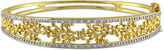Laura Ashley 1/3 CT TW Diamond Yellow-Plated Silver Vintage Inspired Bangle Bracelet
