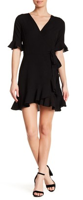 Elodie K Ruffle Trim Wrap Dress