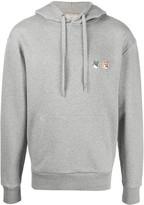 MAISON KITSUNÉ double fox logo patch front pocket hoodie