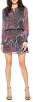 Parker Toledo Long Sleeve Silk Minidress