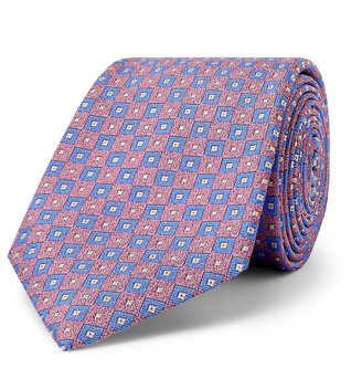 Turnbull & Asser 9.5cm Silk-Jacquard Tie