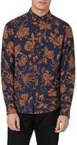 Topman Classic Fit Floral Print Shirt