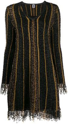 M Missoni Long-Sleeve Flared Dress