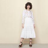 Maje Long cotton canvas skirt