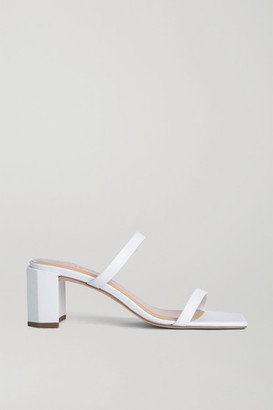 BY FAR Tanya Patent-leather Mules - White
