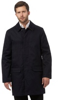 J By Jasper Conran Navy Twill Mac Coat