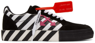 Off-White Black and White Diag Low Vulcanized Sneakers