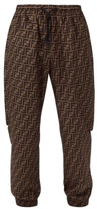 Fendi Ff Logo Track Pants - Brown Multi