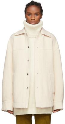 Acne Studios Off-White Twill Overshirt Jacket
