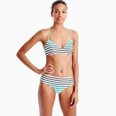 J.Crew French cross-back bikini top in ombré stripe