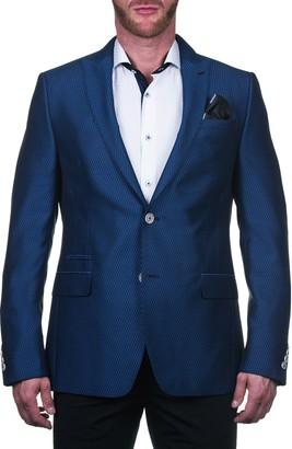 Maceoo Beethoven Regular Fit Elegant Blue Sport Coat