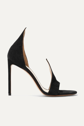 Francesco Russo Suede Sandals - Black