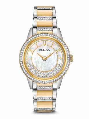 Bulova Womens Analogue Classic Quartz Watch with Stainless Steel Strap 98L245