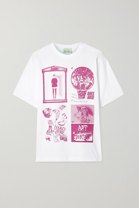 Aries Zine Printed Cotton-jersey T-shirt - White