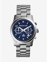 Michael Kors Watch Hunger Stop Runway Silver-Tone Watch