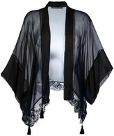Alberta Ferretti lace trim cardigan - women - Silk/Cotton/Polyester - 40