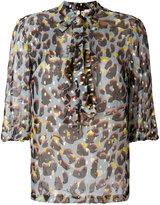 L'Autre Chose printed ruffle blouse