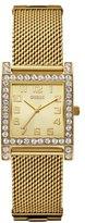 GUESS Women's U0130L2 Enduring Chic Crystal Mesh Gold-Tone Watch