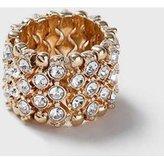 Dorothy Perkins Womens Rhinestone Stretch Ring- Clear