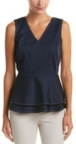 Brooks Brothers Peplum Top.