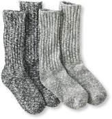L.L. Bean Cotton Ragg Camp Socks, Two-Pack