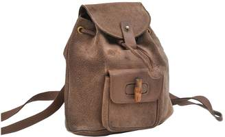 Gucci Brown Leather Backpacks