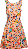 Saloni Jess printed cloqué mini dress