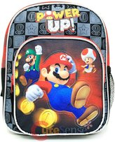 Nintendo Backpack Super Mario Black Power Up School Bag New 405884